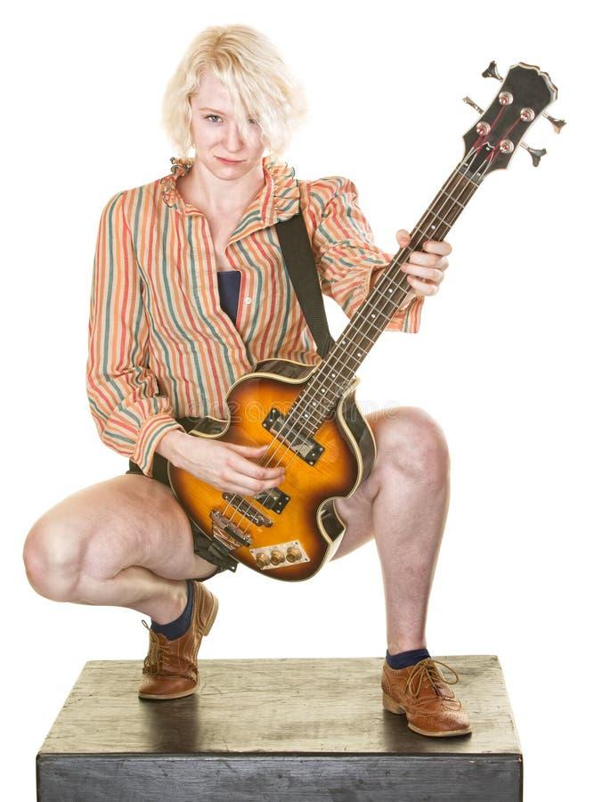Grina gitarrspelaren royaltyfri fotografi