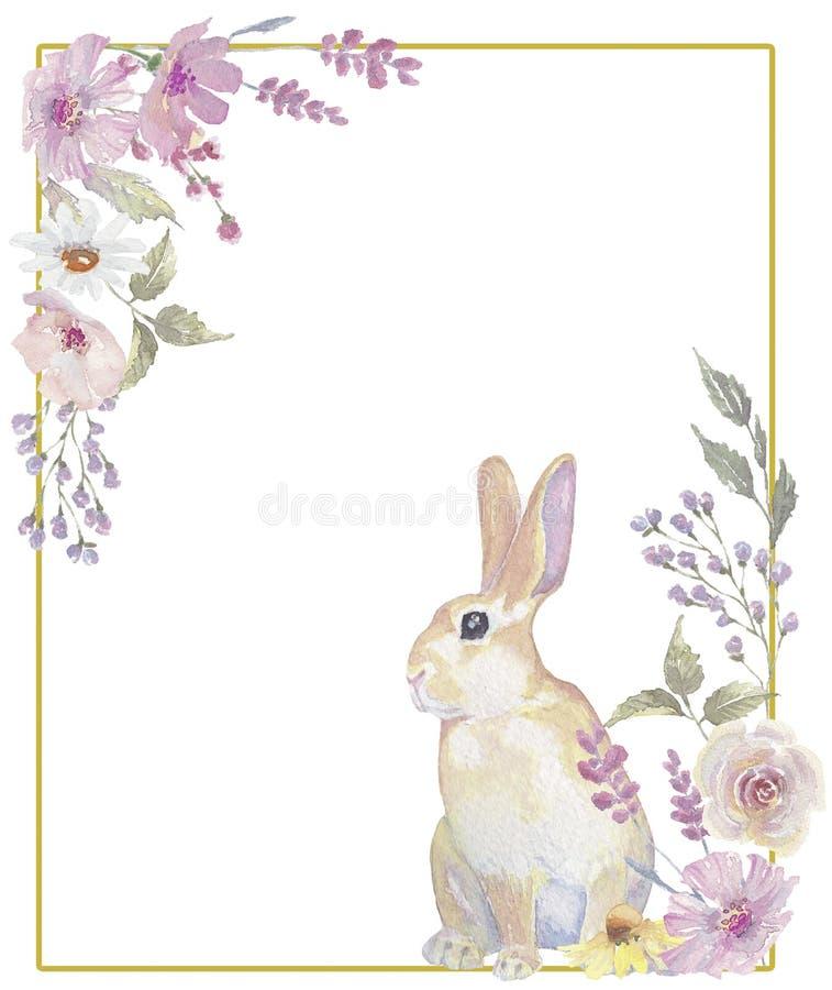 Grinalda amarela do coelhinho da P?scoa imagens de stock royalty free