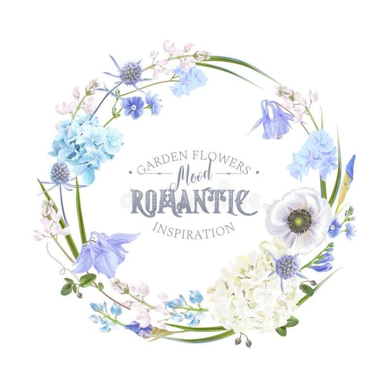 Grinalda azul da flor ilustração do vetor