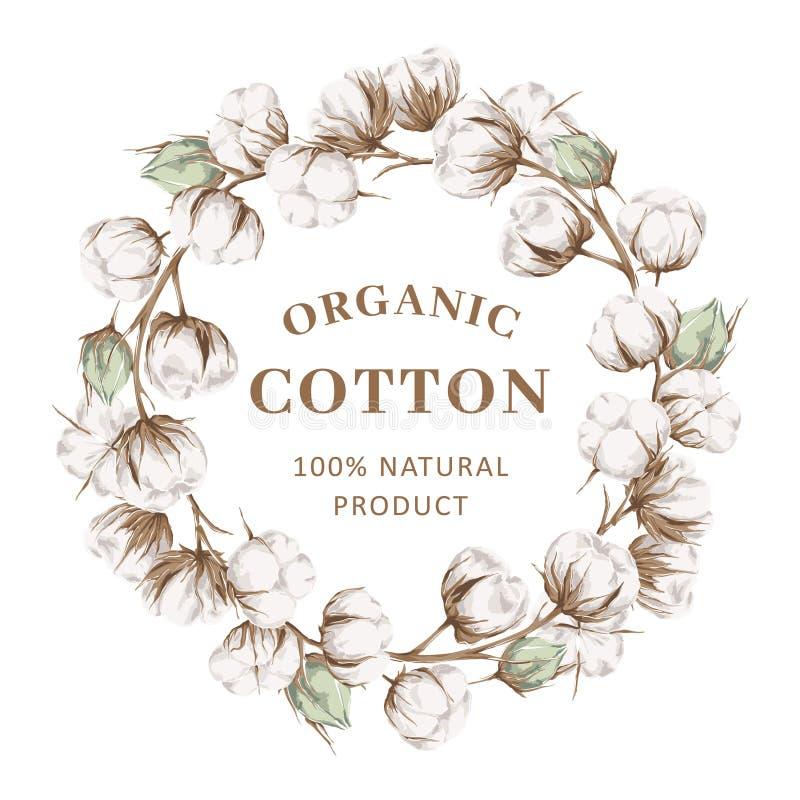 Grinalda com algodão ilustração stock