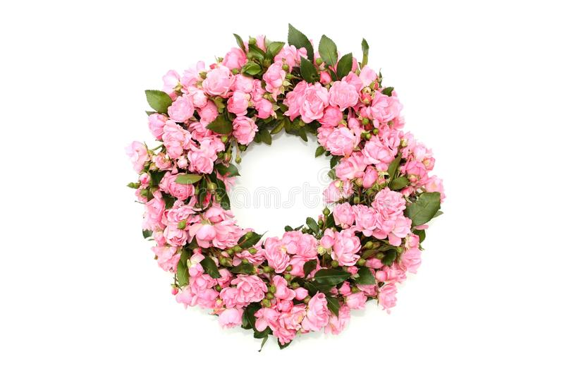 Grinalda cor-de-rosa da flor foto de stock