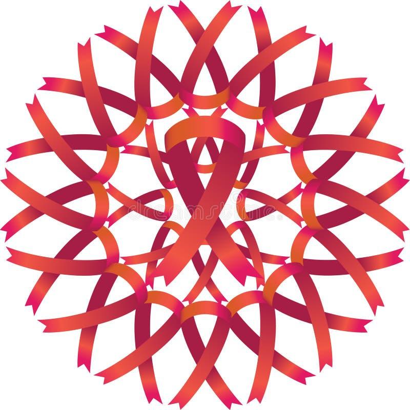 Grinalda da fita da consciência do AIDS ilustração stock