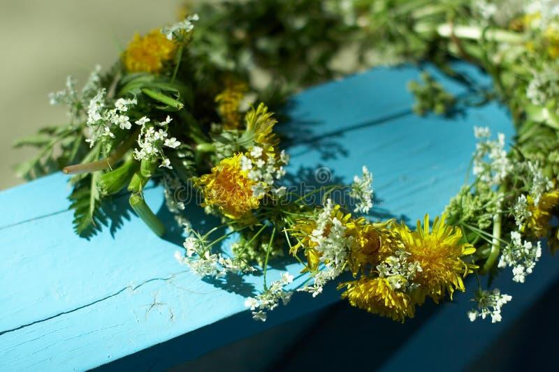 Grinalda da flor imagens de stock