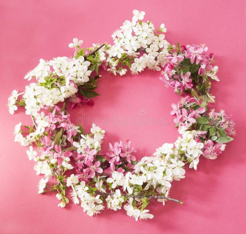 Grinalda da flor da mola imagem de stock