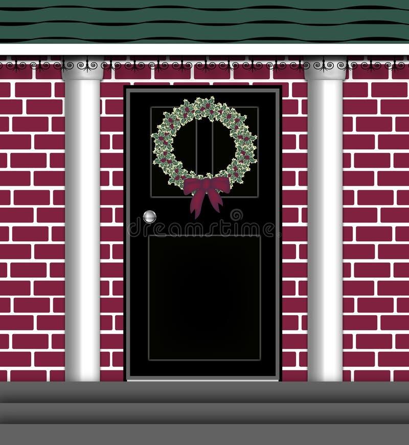 Grinalda da porta ilustração do vetor