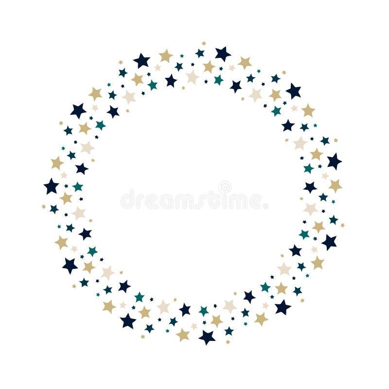 Grinalda das estrelas do vetor ilustração royalty free