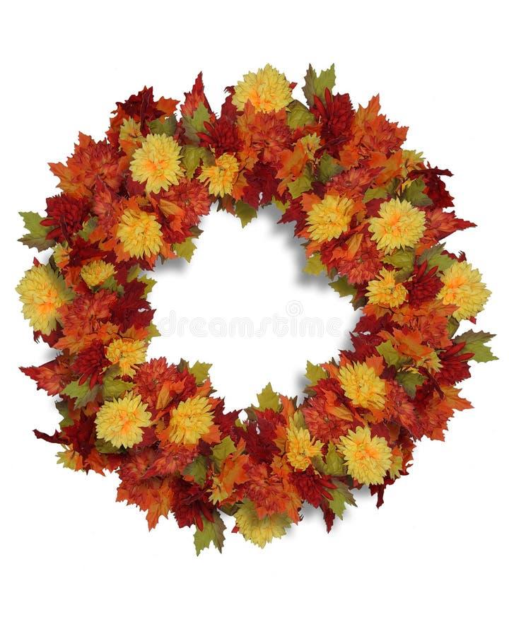 Grinalda das flores do outono da acção de graças ilustração do vetor