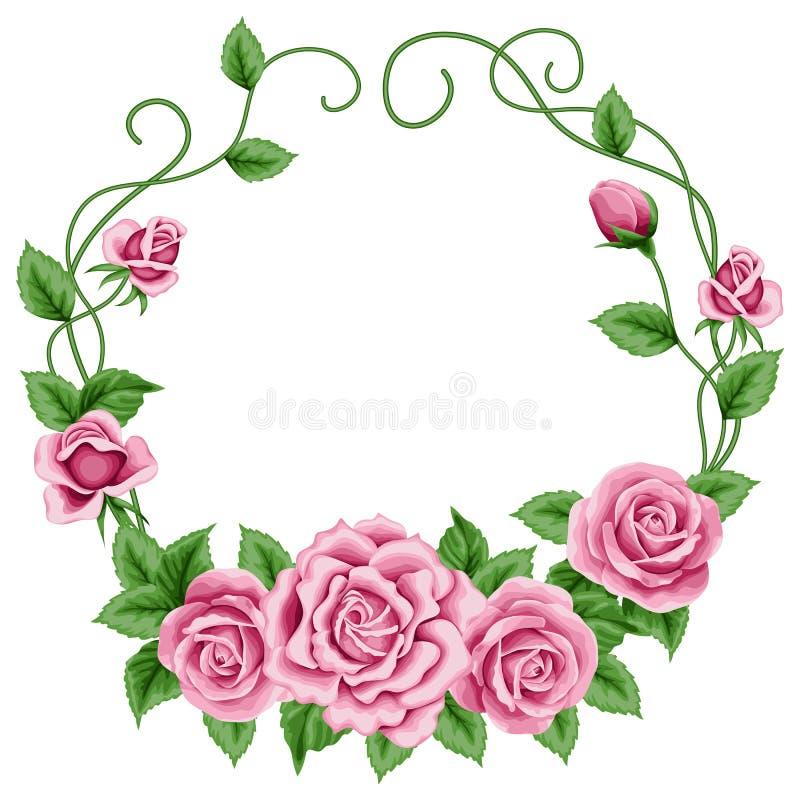 Grinalda das rosas ilustração stock