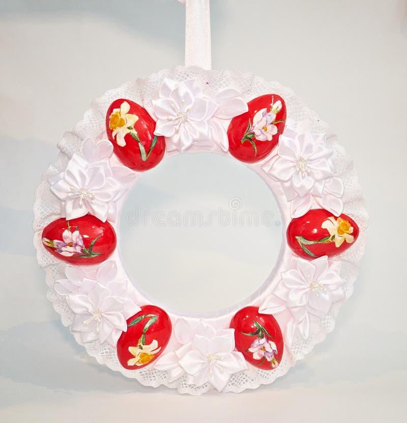 Grinalda decorativa da Páscoa imagens de stock