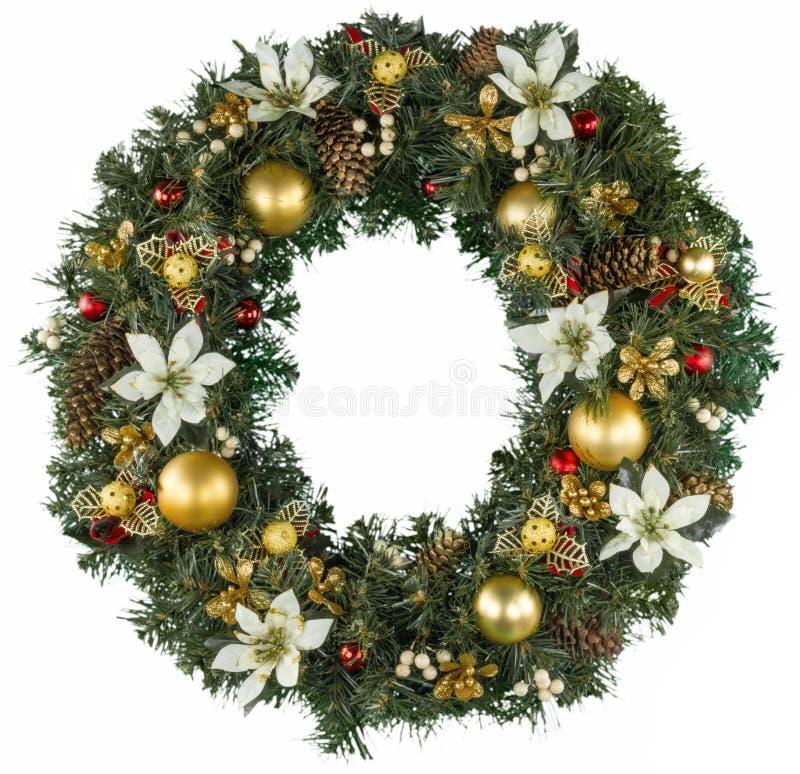 Grinalda decorativa do Natal do azevinho, hera foto de stock