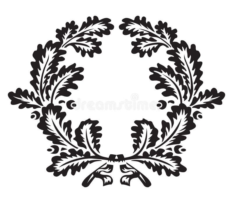 Grinalda do carvalho ilustração royalty free