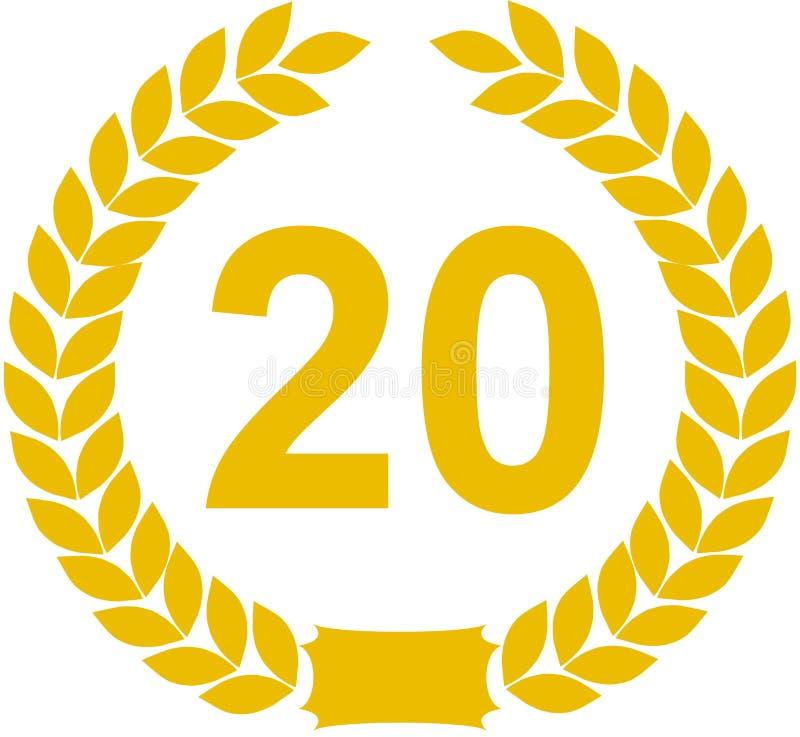 Grinalda do louro 20 anos ilustração stock