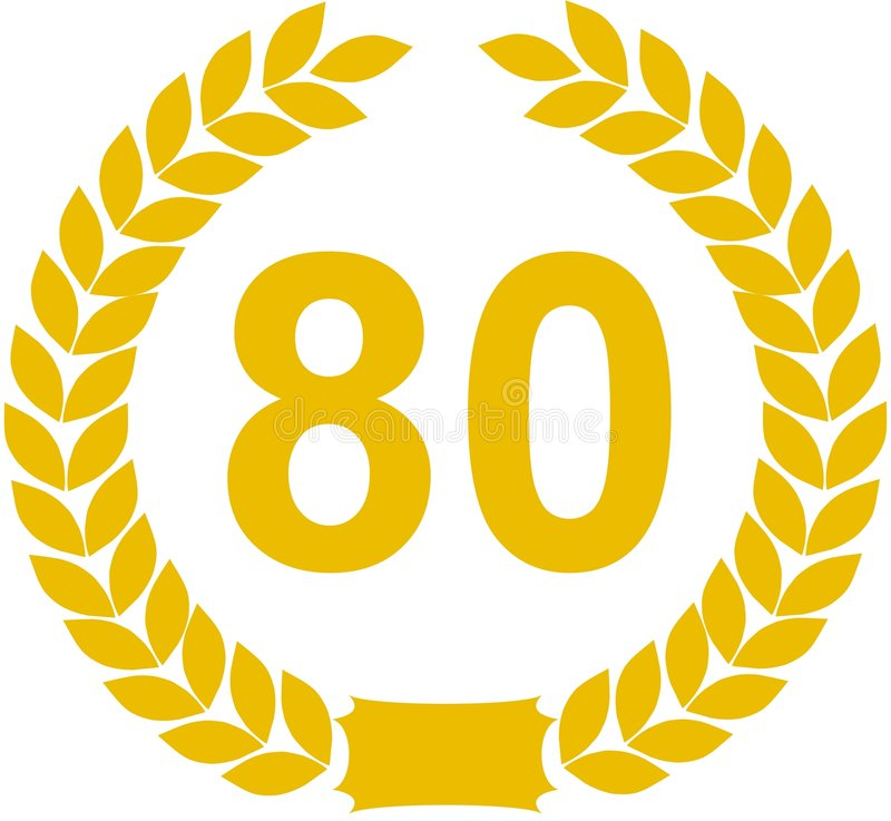 Grinalda do louro de 80 anos ilustração stock