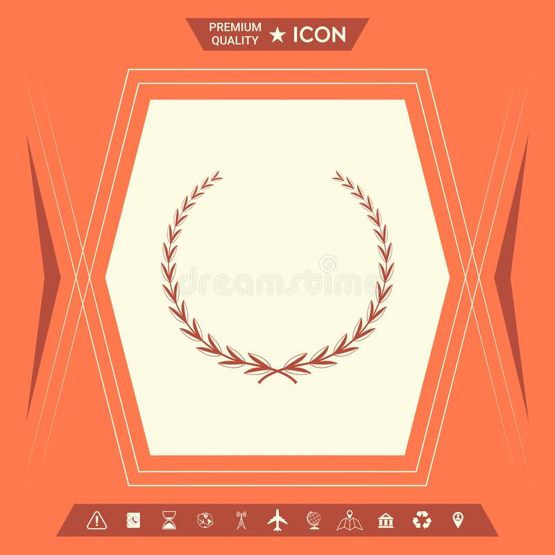 Grinalda do louro - símbolo ilustração royalty free