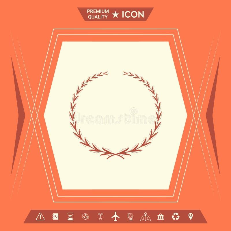 Grinalda do louro, símbolo ilustração royalty free