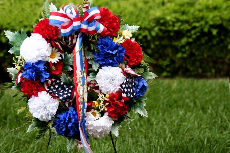 Grinalda do Memorial Day imagens de stock royalty free