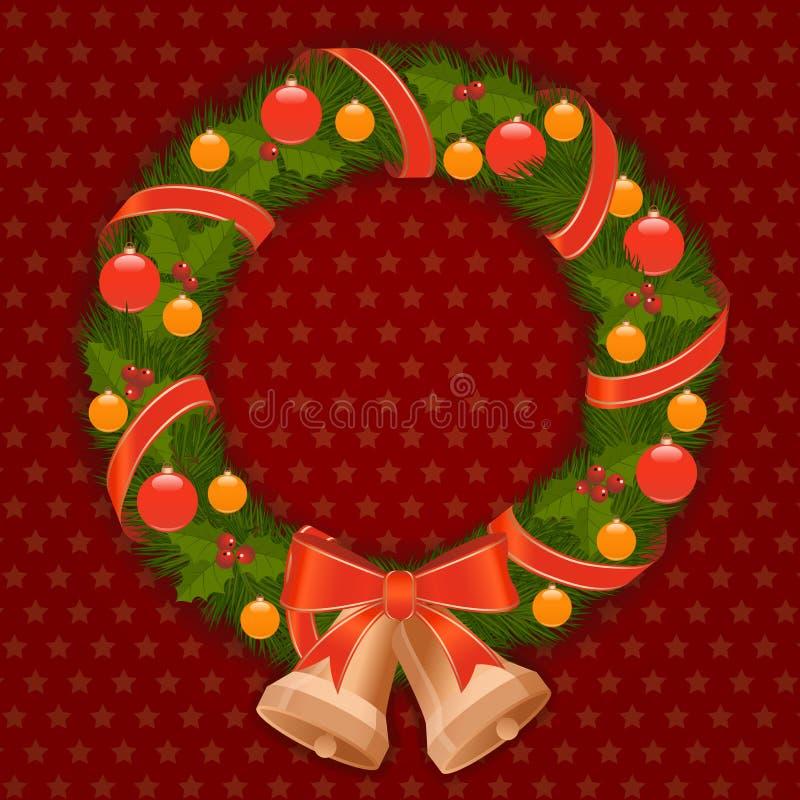 Grinalda do Natal ilustração stock