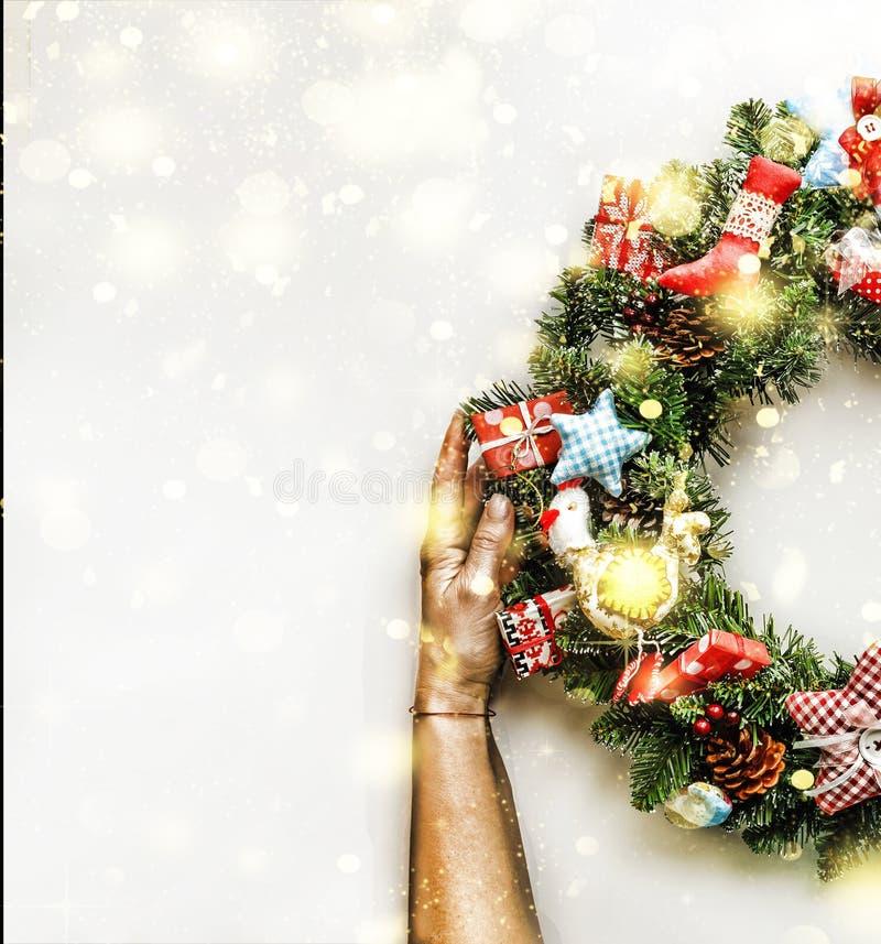 Grinalda do Natal Ano novo Feriado do Natal ilustração do vetor