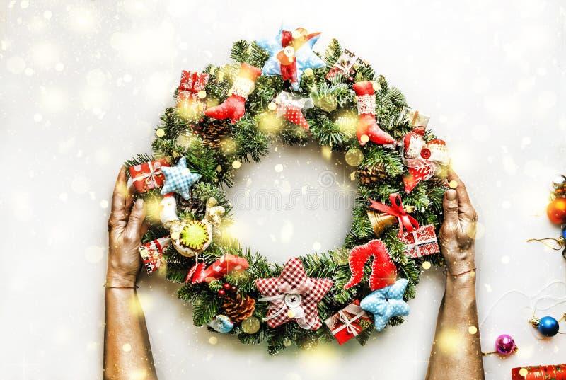 Grinalda do Natal Ano novo Feriado do Natal ilustração stock