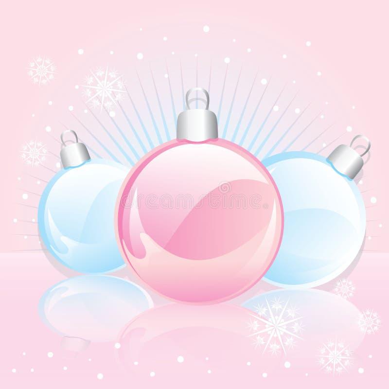 Grinalda do Natal com esferas vermelhas congratulation ` S do ano novo e Natal ilustração do vetor
