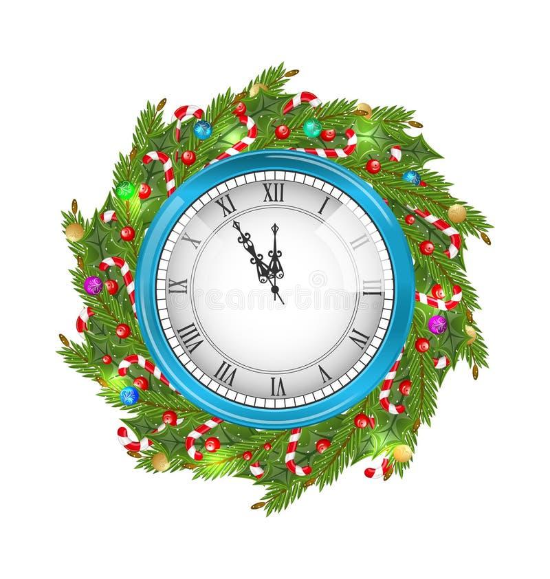 Grinalda do Natal com pulso de disparo ilustração stock
