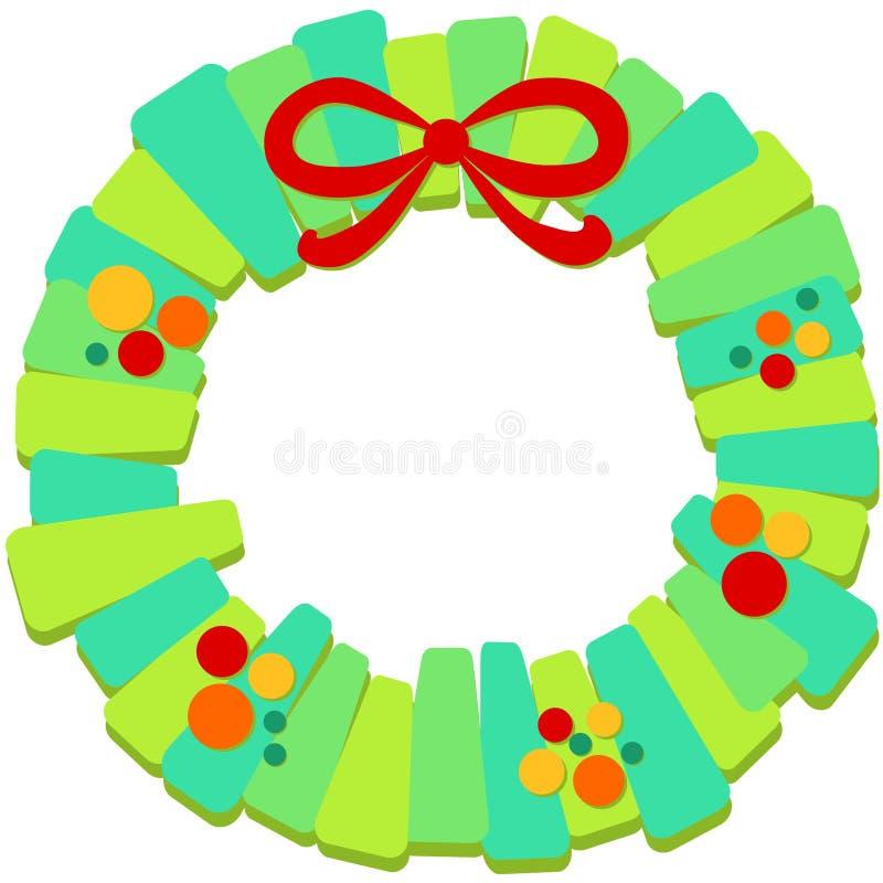 Grinalda do Natal com quadro da curva ilustração royalty free