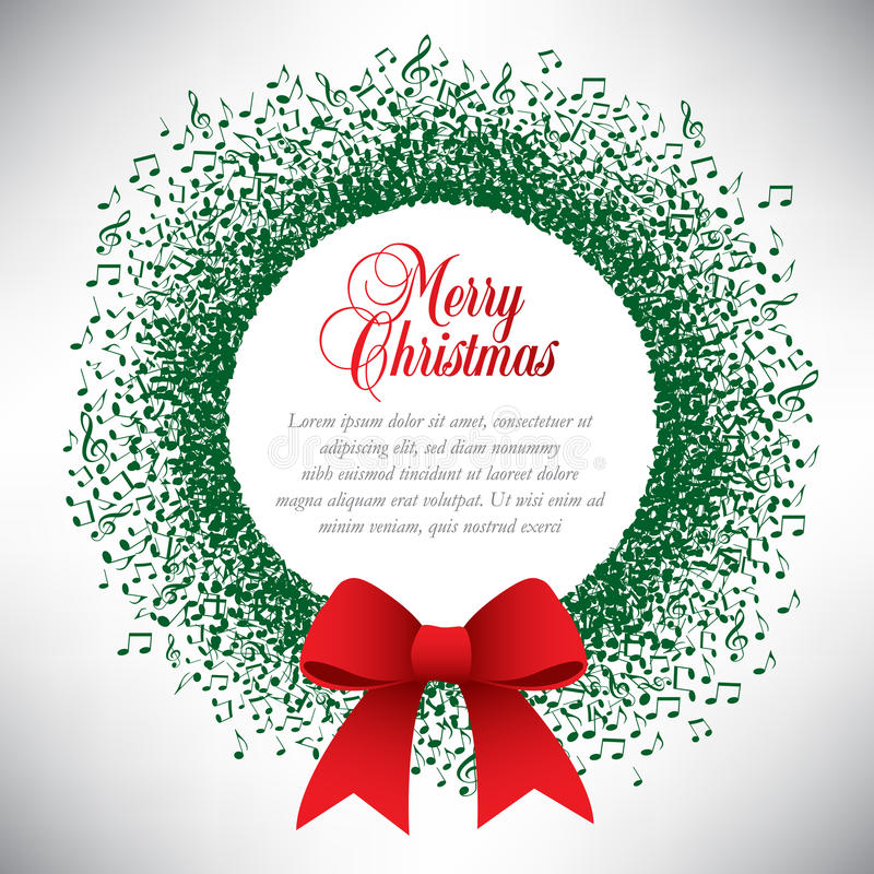 Grinalda do Natal do tema musical ilustração royalty free