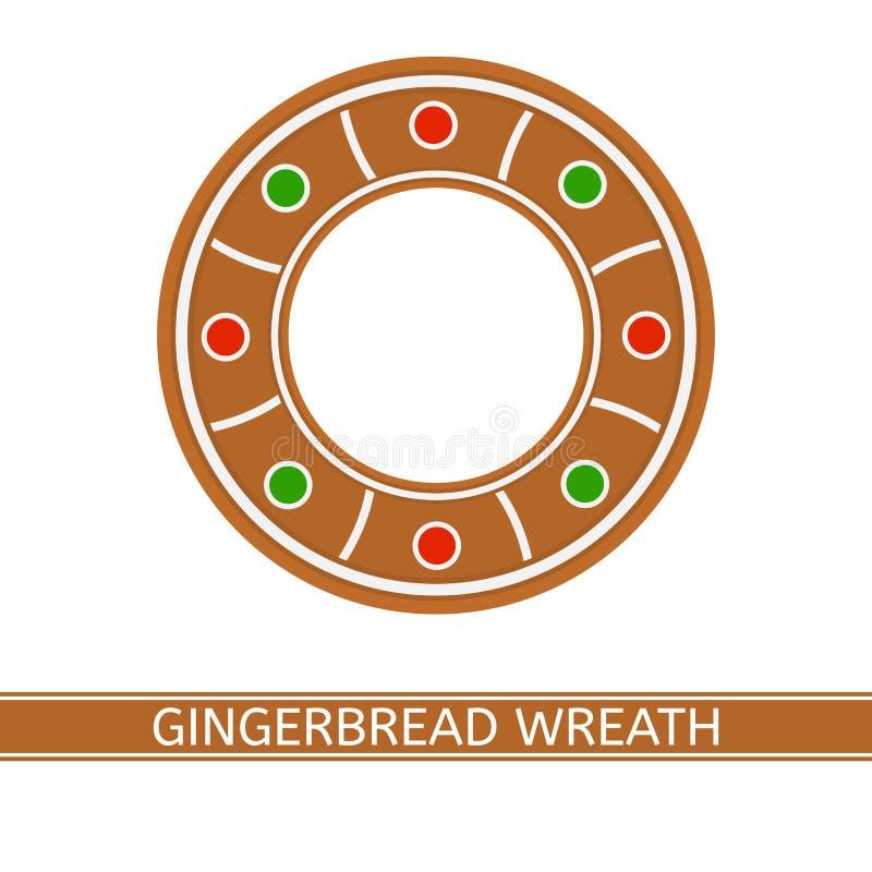 Grinalda do Natal do pão-de-espécie ilustração stock