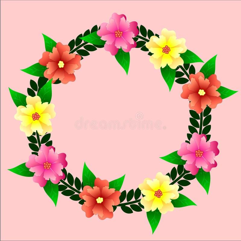 Grinalda do vetor das flores fotos de stock royalty free