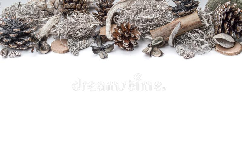 Grinalda do White Christmas foto de stock royalty free