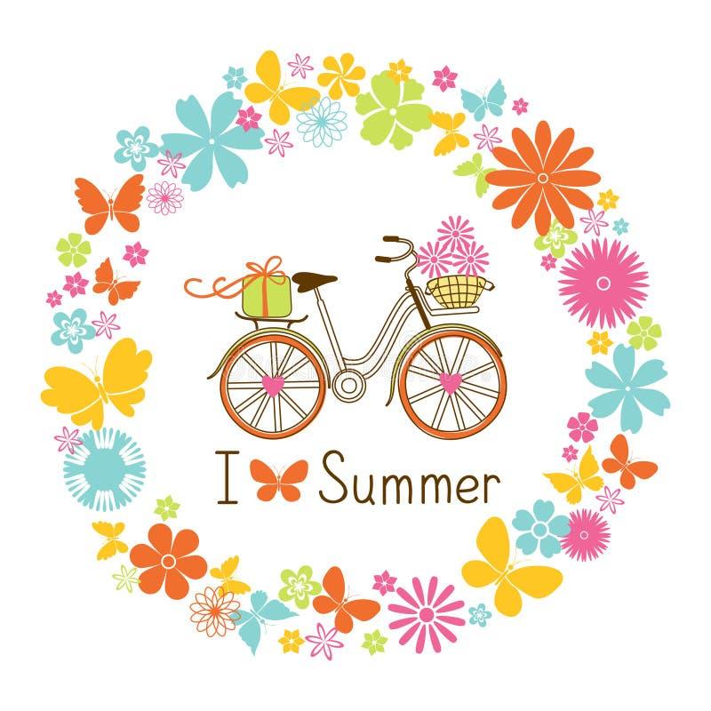 Grinalda e bicicleta ilustração royalty free