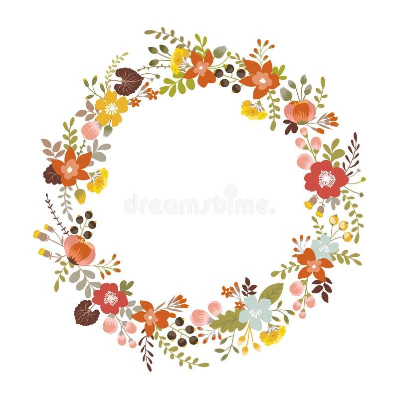 Grinalda floral ilustração royalty free
