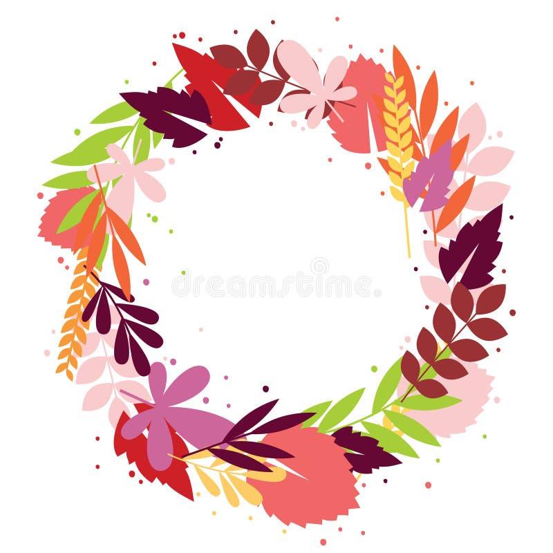 Grinalda floral da queda ilustração stock
