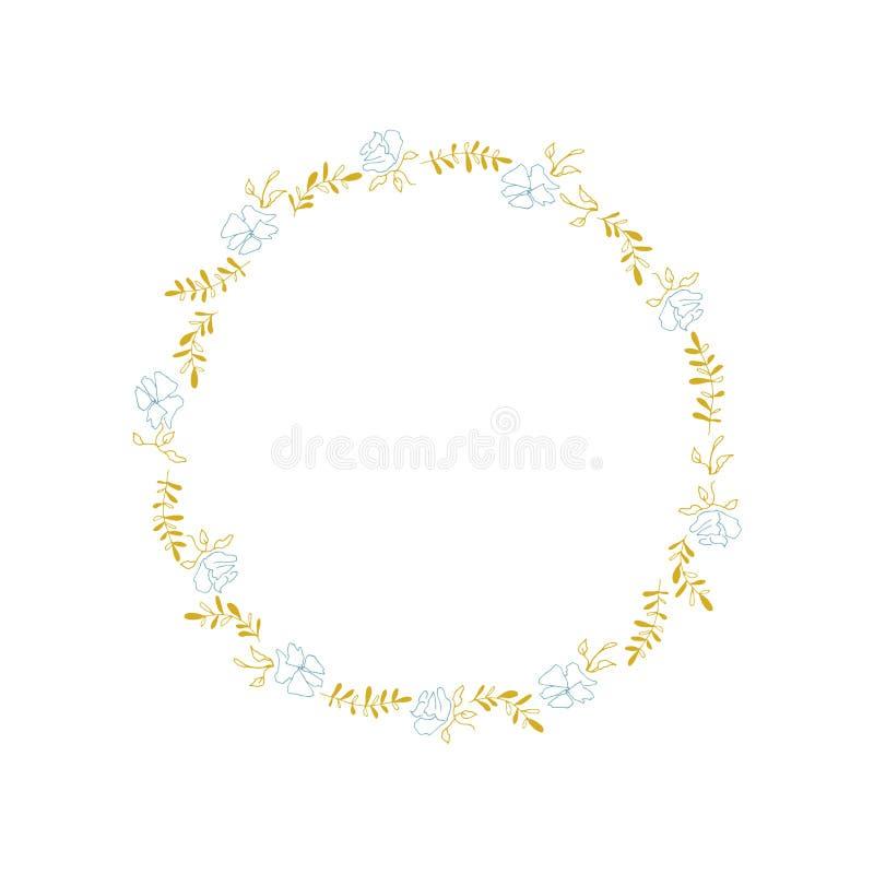 Grinalda floral do vetor ilustração do vetor