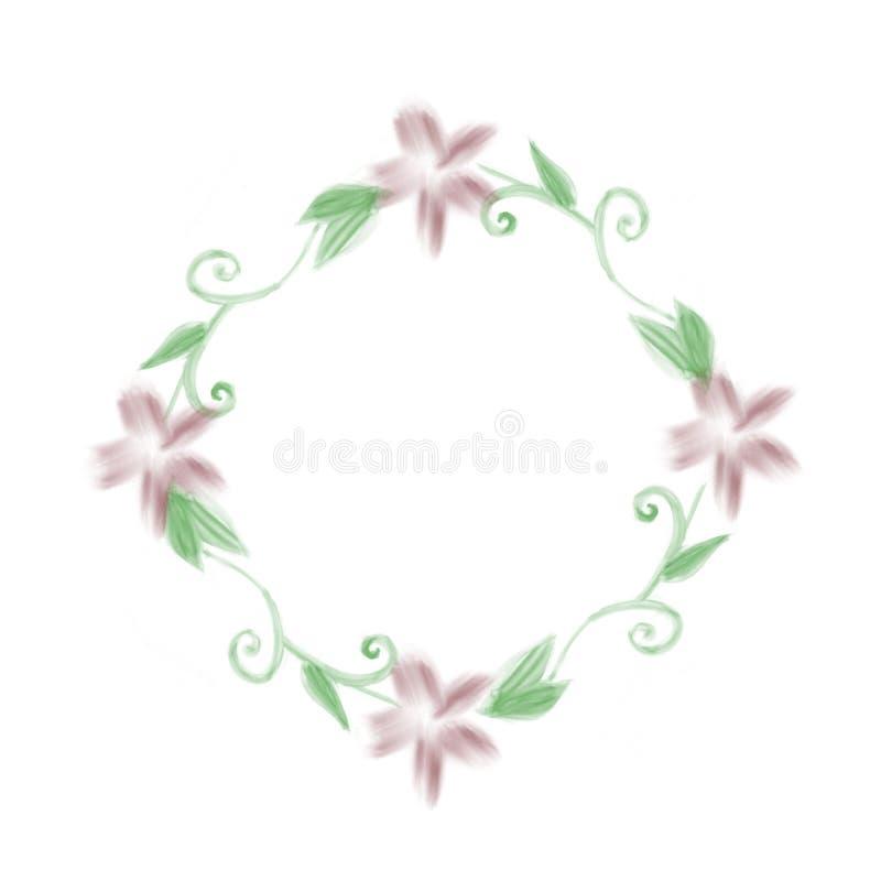 Grinalda floral do Watercolour ilustração stock