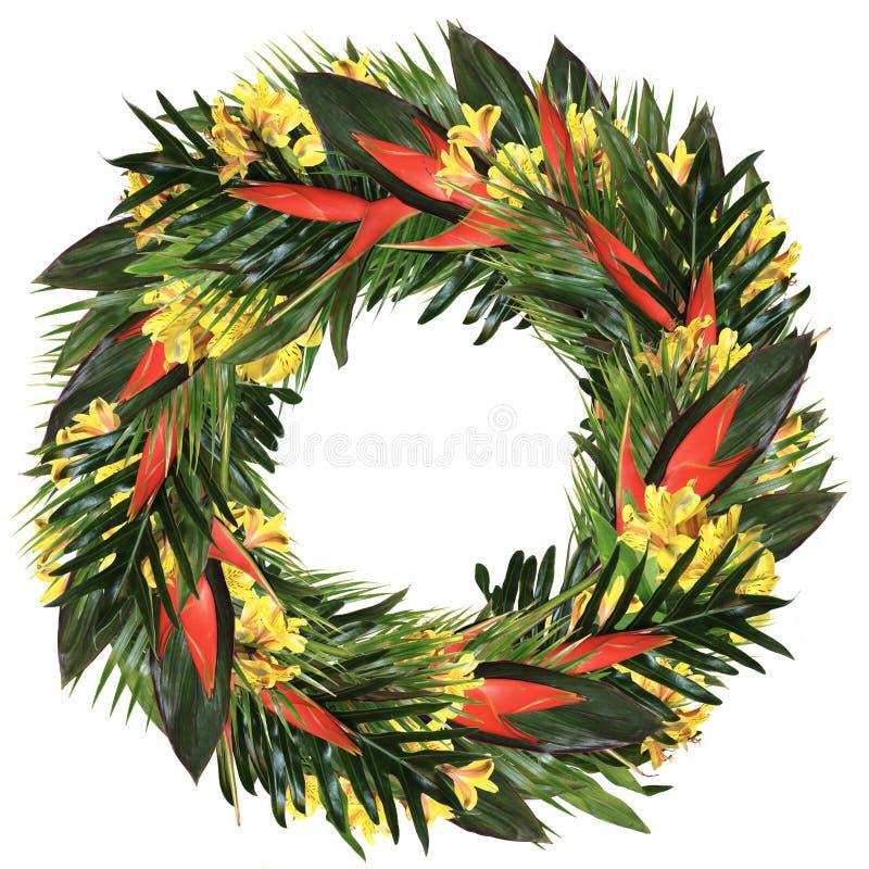 Grinalda tropical do heliconia & do alstroemeria fotos de stock