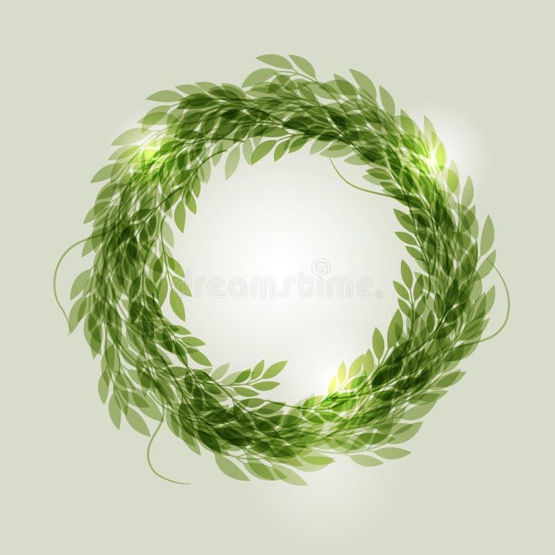 Grinalda verde ilustração royalty free