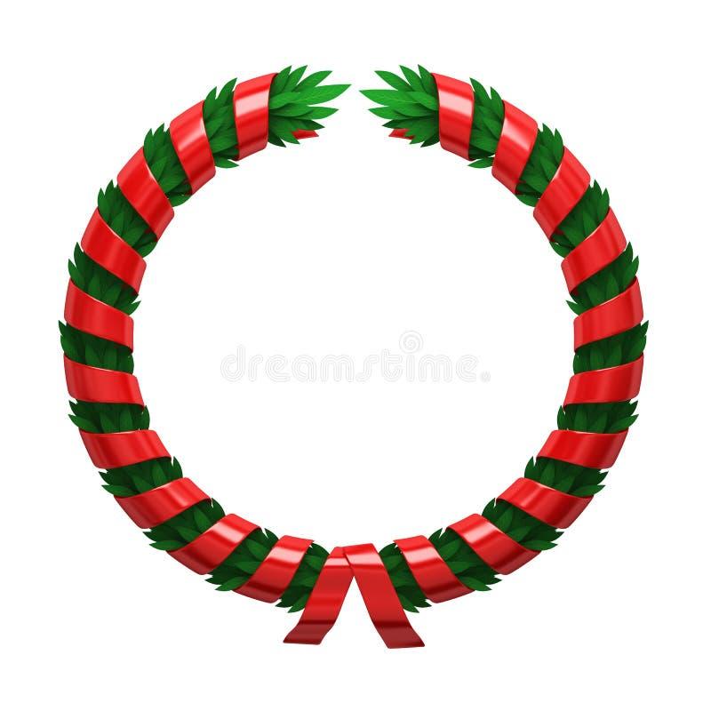 Grinalda verde vermelha ilustração royalty free