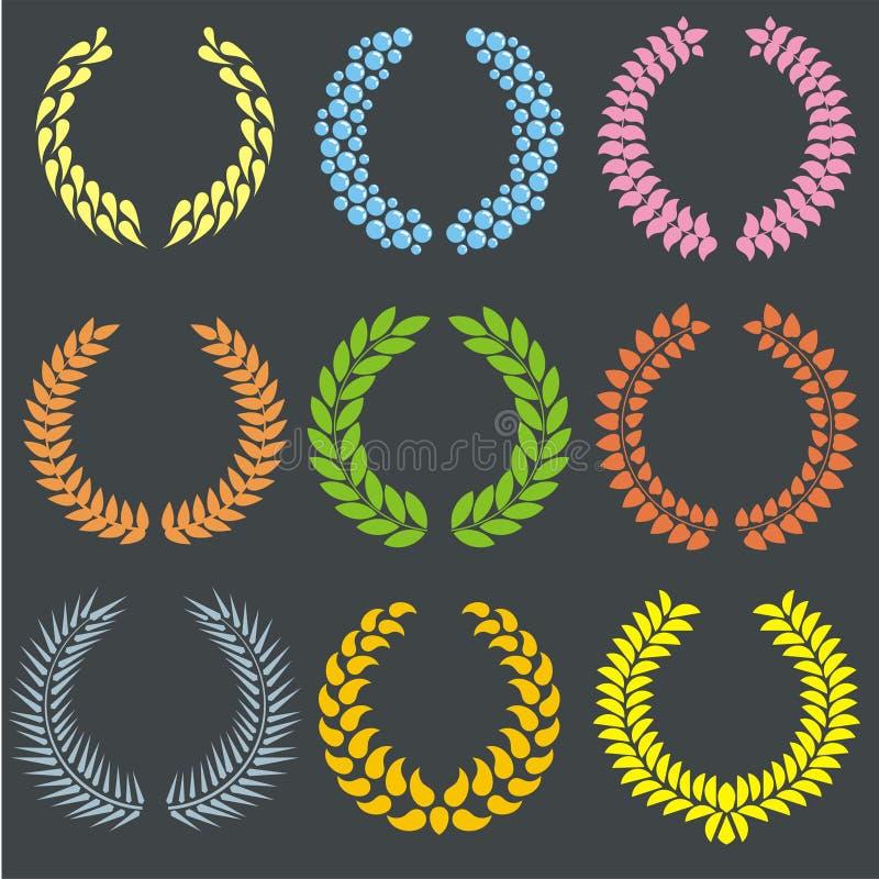 Grinaldas do louro ilustração royalty free