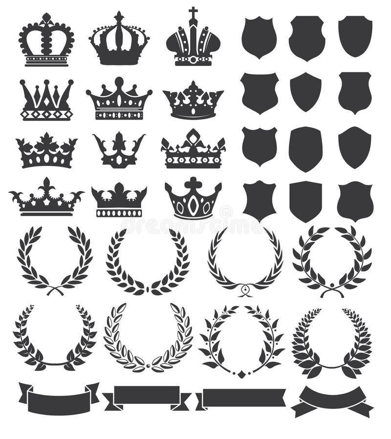 Grinaldas e coroas ilustração royalty free