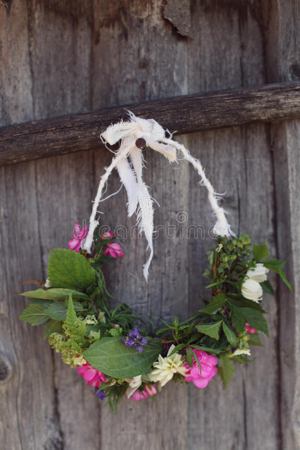 Grinaldas feitos a mão imagem de stock