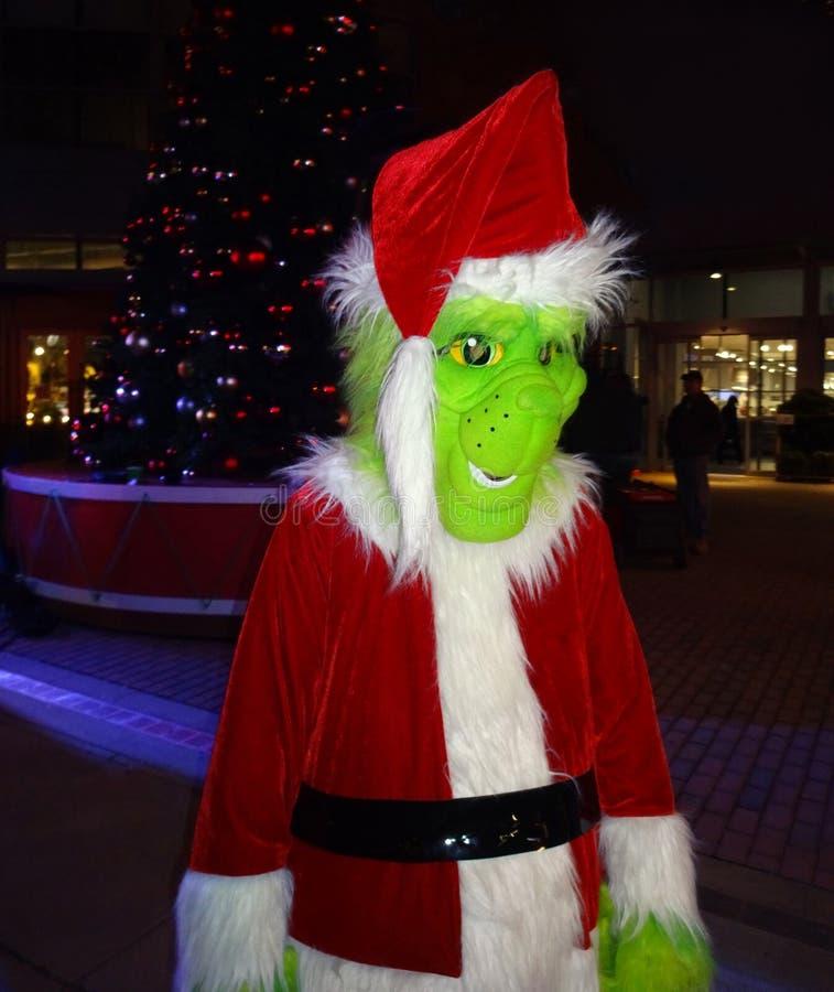 The Grinch au festival de Noël à Washington DC photographie stock
