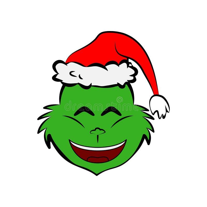 Free Grinch In Smile Emoji Icon Royalty Free Stock Image - 131109506