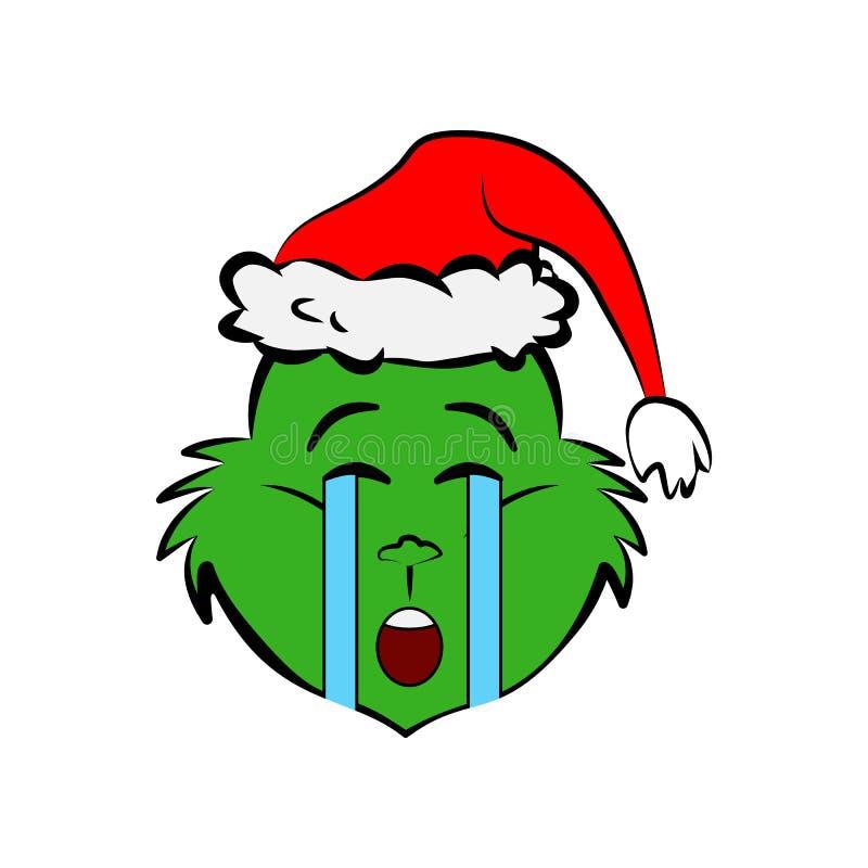 Grinch in Schrei emoji Ikone vektor abbildung