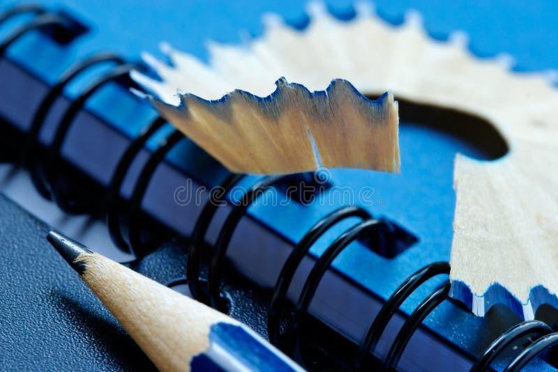 grinded blyertspenna arkivfoton