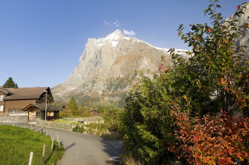 grindelwald βουνό wetterhorn στοκ φωτογραφία