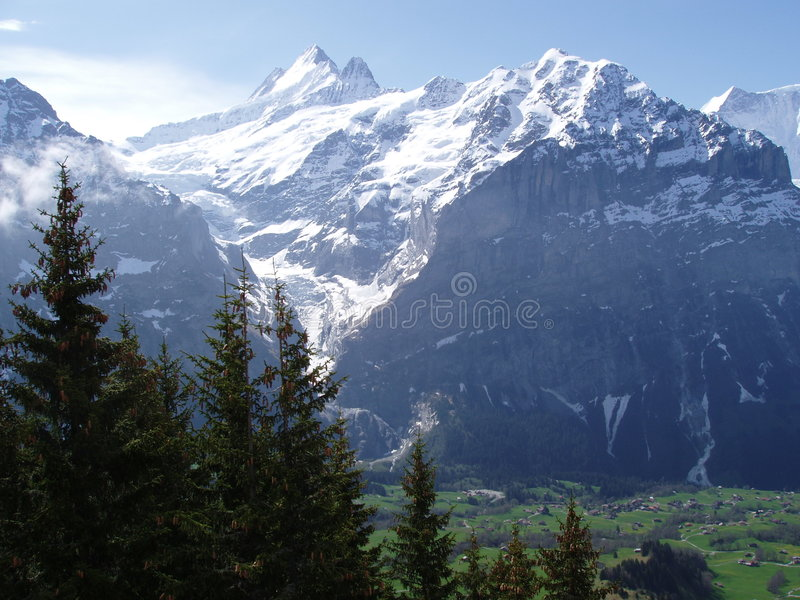 grindelwald switzerland fotografering för bildbyråer
