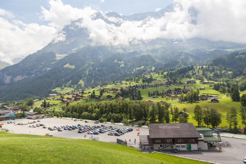 Grindelwald - Switzerland. Jungfrau, panorama. stock image