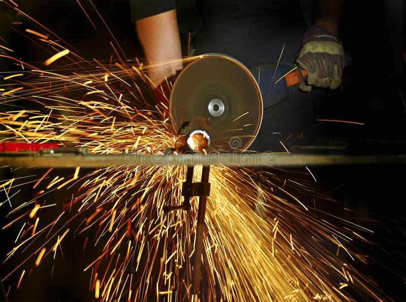 Download Grinder in action detail stock photo. Image of construction - 16179942