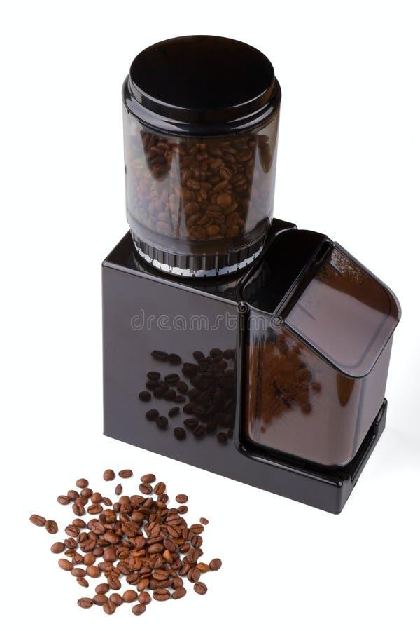 grinder för svart kaffe arkivbild